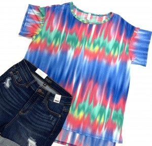 Alluring Mix Up TieDye Top
