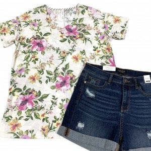 A Moment In Time Floral Top