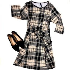 On My Way Plaid Dress