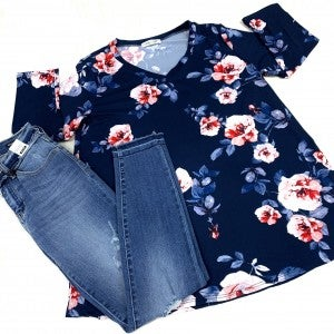 Where I'm Meant To Be Floral Top