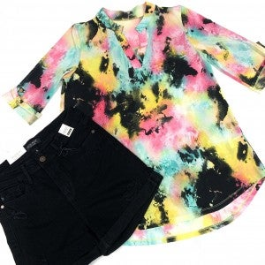 Lost In The Dark TieDye Back Top