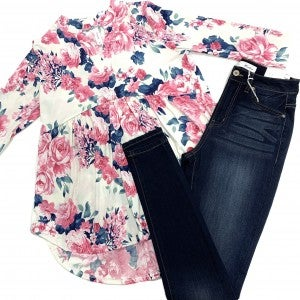 A Loss For Words Floral Top