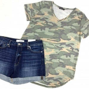 On The Move Camo Top