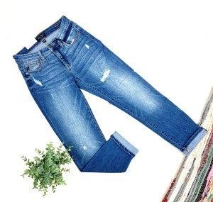 Judy Blue Boyfriend Cuffed Jeans