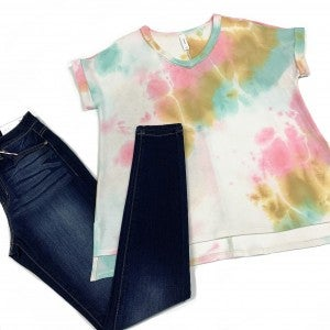 Take Me On A Vacay TieDye Top