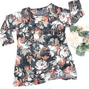 Just Peachy Floral Top