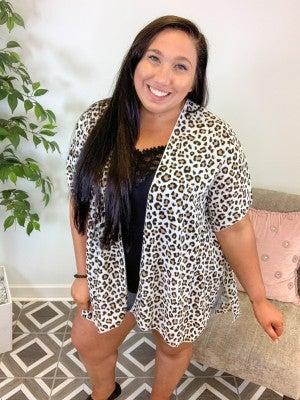 Untamed and Fierce Leopard Cardi