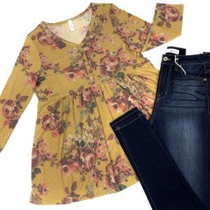The First To Fall Floral Top
