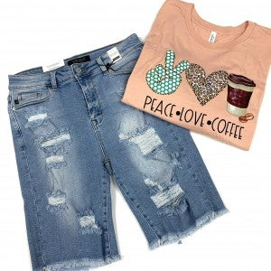 Judy Blue Distressed Cutoff Bermudas