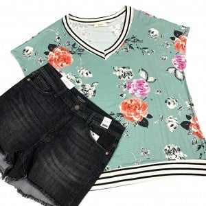 Spend All My Time Floral Top