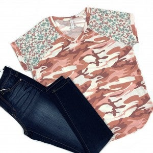 Seek And She Shall Find Camo Top