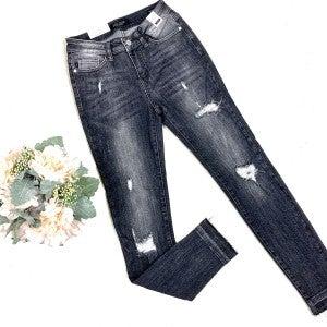 Judy Blue Destroyed Black Jeans
