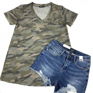 Always Taking Charge Camo Top