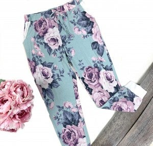 Mint To Be Floral Joggers