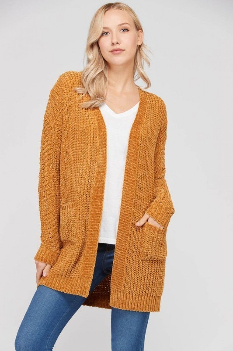Long sleeves knit cardigan with pockets