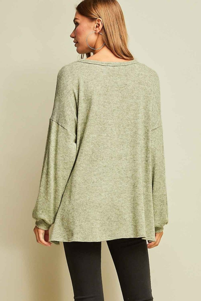 Wide Neck Lightweight Sweater with V-stitch
