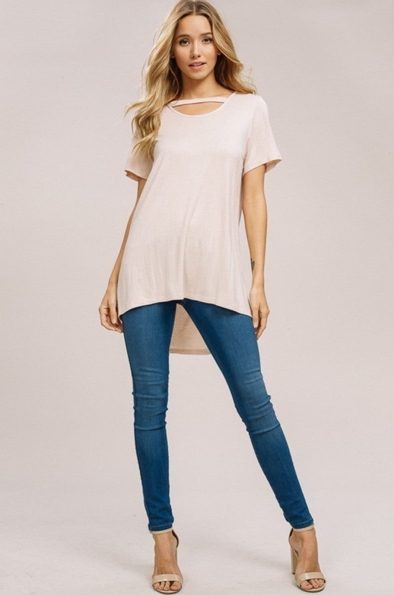 Perfect Spring Round Neck Short Sleeve Top