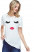 Ivory Lash and lip short sleeve top