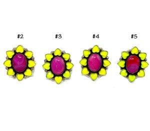 M&S Pink Agate Quartz Ring