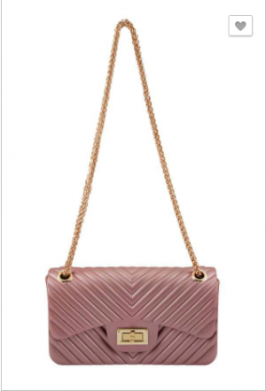 illord - V Quilted pattern jelly crossbody bag