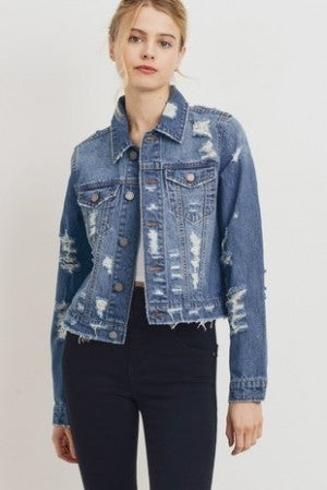 Black Label - Distressed Denim Jacket