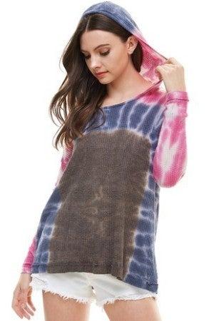 T Party - TIe Dye Long sleeve knit top