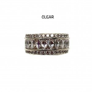 Clear & Silver Daisy Ring