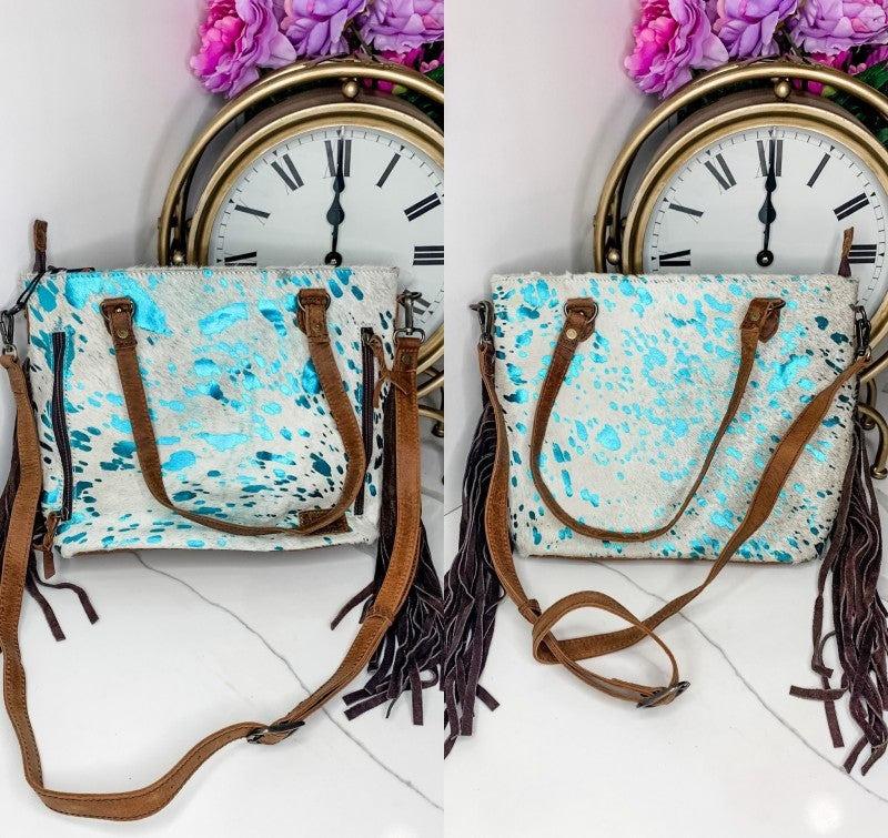 American Darling - Tassel detail acid wash cross body bag