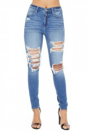 Eunina - Bella super high rise skinny ankle jeans
