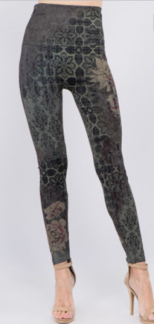 M Rena - High waist bulgari print full length leggings(plus)