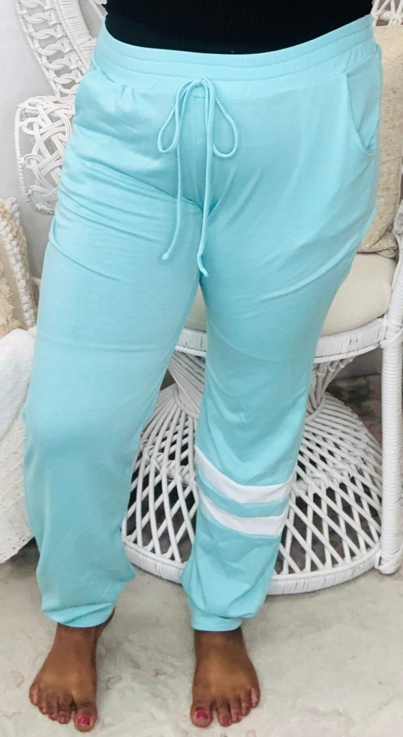 White Birch - Solid knit lounge pants