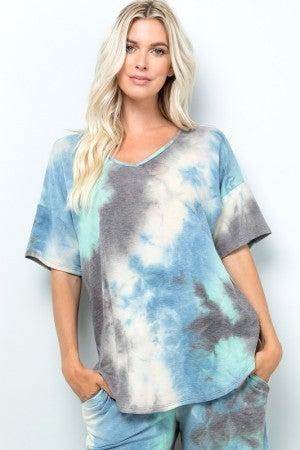 SWEET LOVELY-Tie Dye Lounge Wear Top