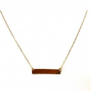 """18"""" Hammered Bar Necklace"""