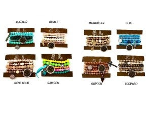 LV Up-Cycled Wrap Bracelets with Charms