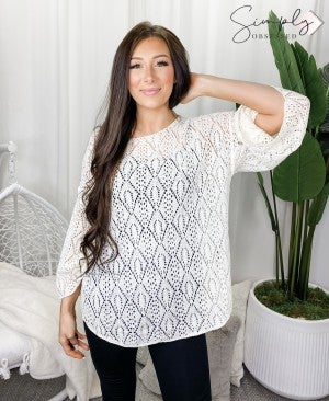 Pol - Round neck long sleeve knit sweater