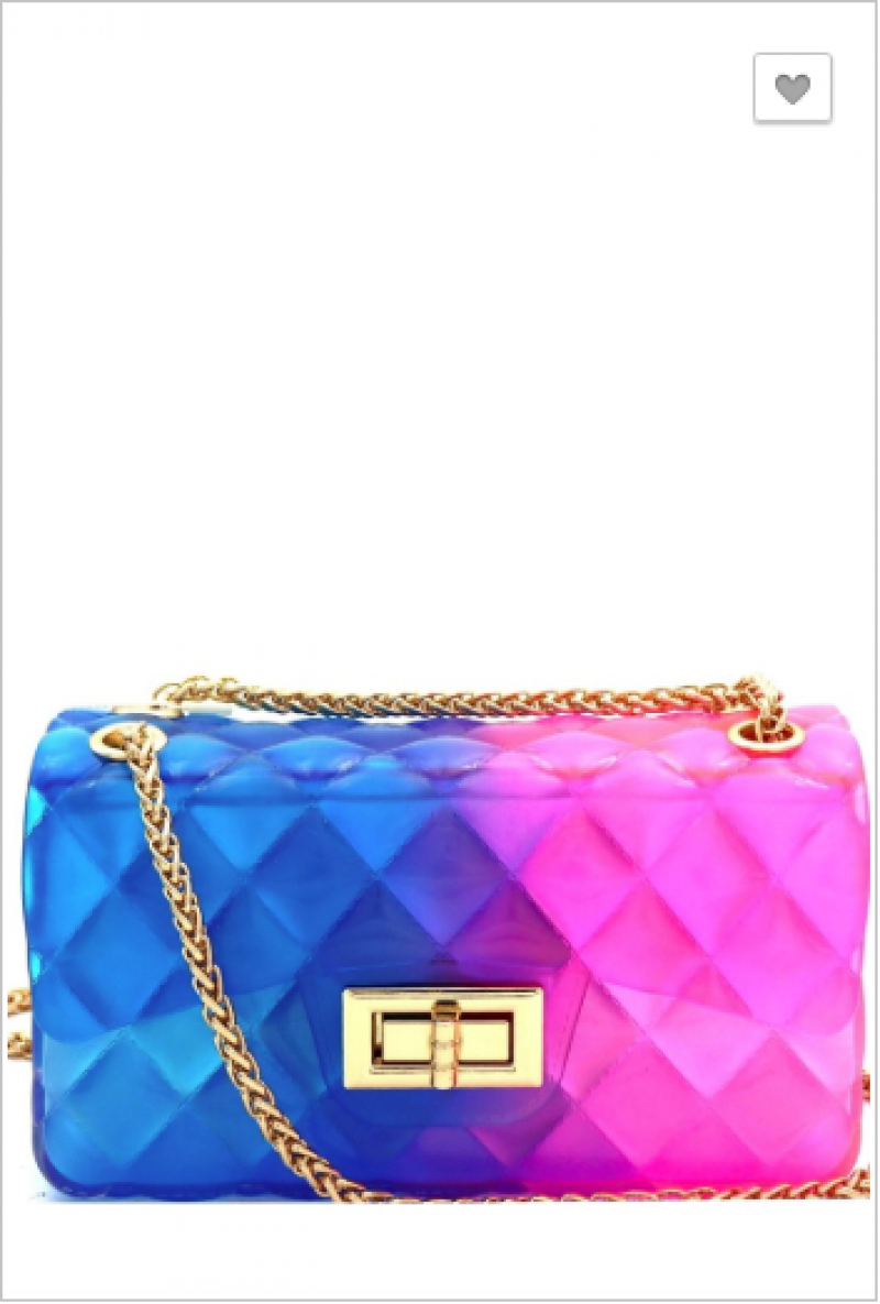 Bag Boutique - Plastic chain shoulder strap bag