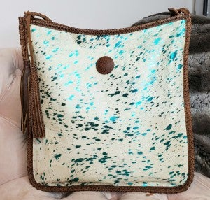 American Darling - Tassel detail acid washed cross body bag