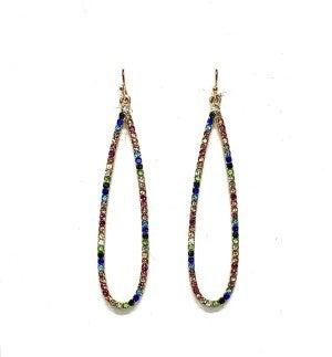 Skinny Teardrop rainbow earrings