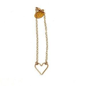 Dainty Chain Hallow Heart Bracelet