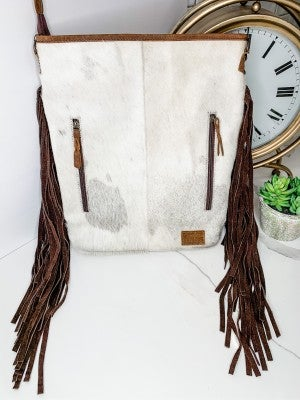 American Darling - Leather work tassel detail cross body bag