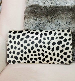 Simply Obsessed- Cow print clutch