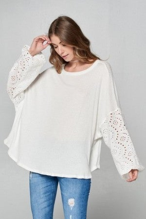 Chrysanthemum - Woven Floral Lace Top