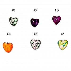 M&S Hand-Painted Heart Glass Ring