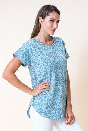 FLAMINGO-Leopard Print Shirt