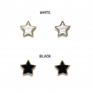 Adorable Star Earring with Woven Detail