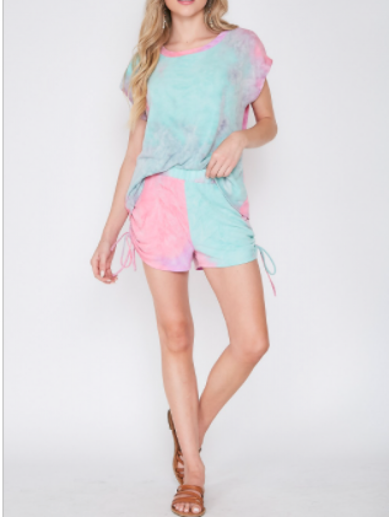 Fantastic Fawn - Tie Dyed Knit Shorts