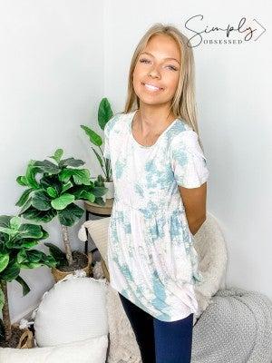 Honeyme - Baby doll short sleeve top