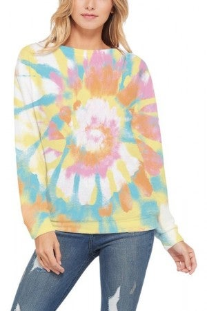 PHIL LOVE-TIE DYE SWEATSHIRT TOP