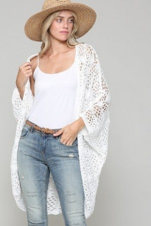 Kye Mi - Oversized Crochet Lace Cardigan