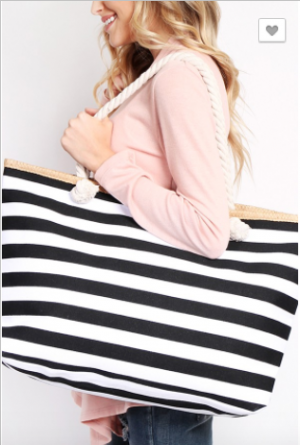 MYS - Striped tote bag